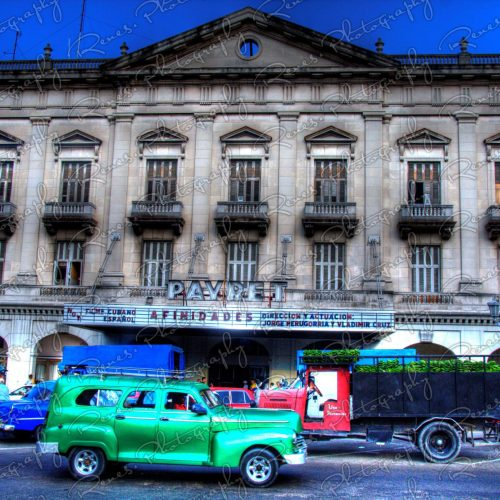 1946 Chevrolet Station Wagon in front of the Theatre in Havana Cuba 1 scaled