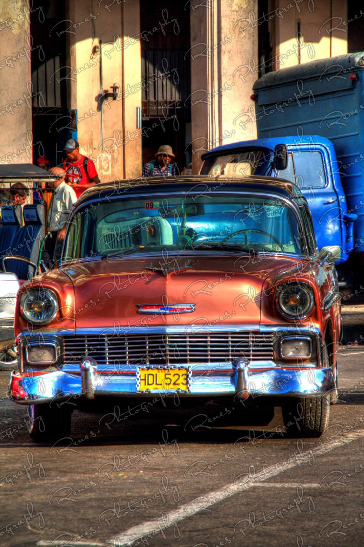 1956 Chevrolet Bel Air on the streets of Havana Cuba 4 scaled
