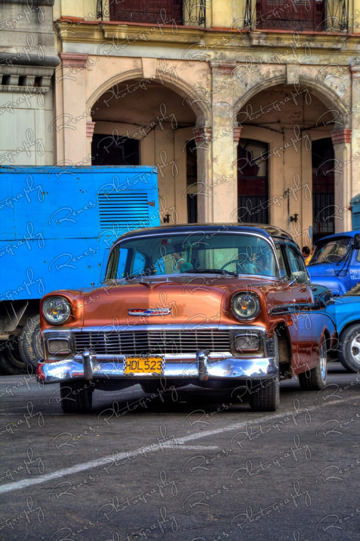 1956 Chevrolet Bel Air on the streets of Havana Cuba 6 scaled