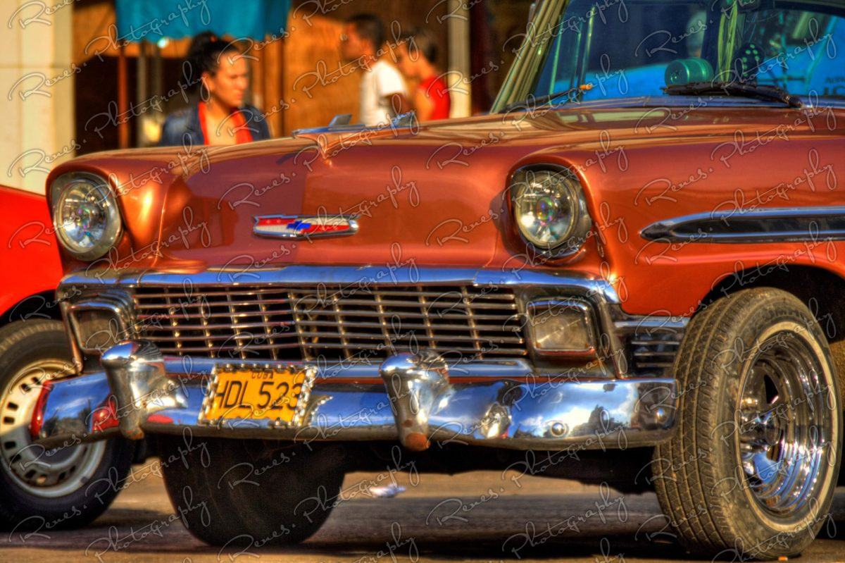 1956 Chevrolet Bel Air on the streets of Havana Cuba 7 scaled