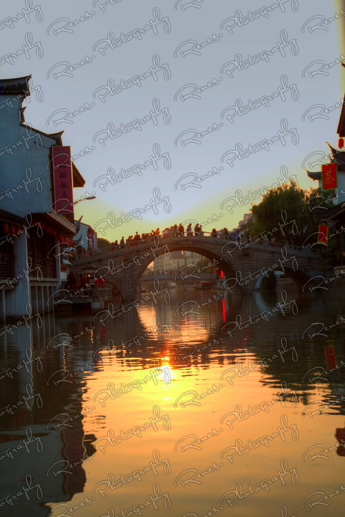 Sunset in Qibao Ancient Town in Shanghai China 5 scaled