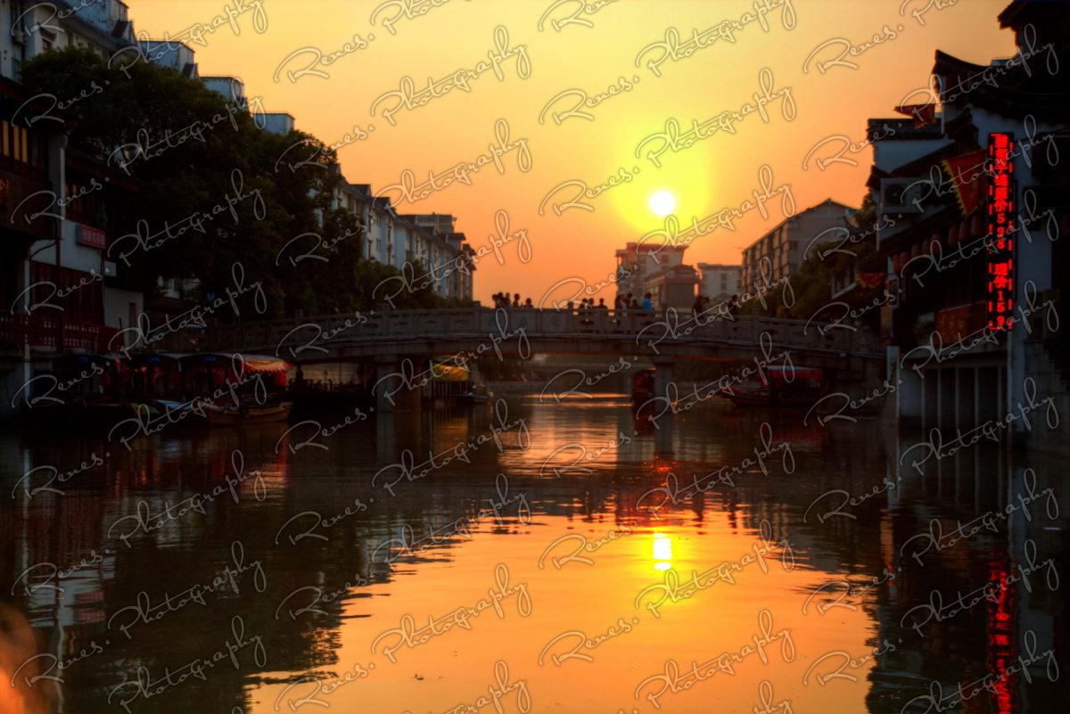 Sunset in Qibao Ancient Town in Shanghai China 7 scaled
