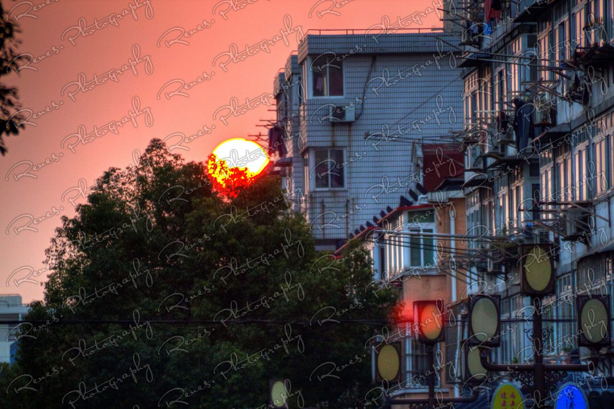 Sunset in Qibao Ancient Town in Shanghai China 8 scaled
