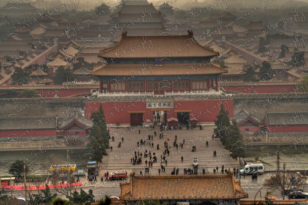 view towards forbidden city in Beijing china from Jingshan Park hill 1 scaled